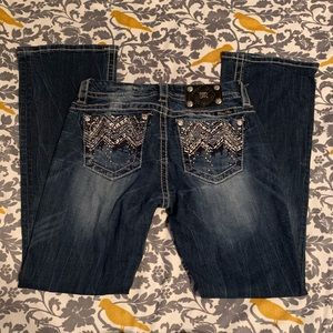 Miss Me Jeans Midrise Easyboot EUC Size 26
